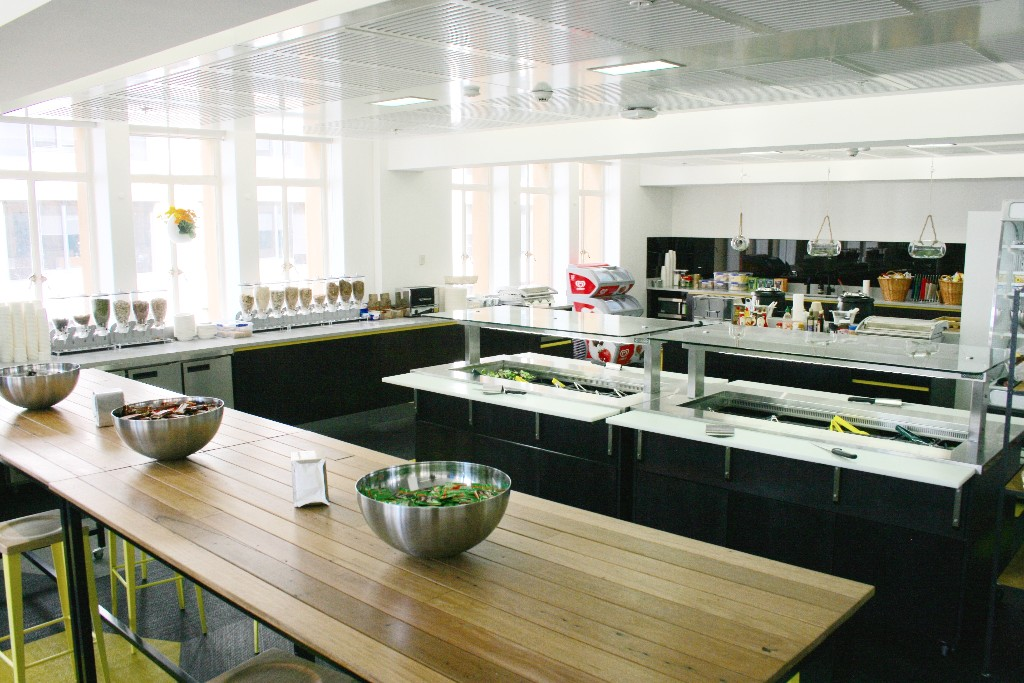 Atlassian launches new kitchen at sydney cbd head office for Kitchen companies sydney